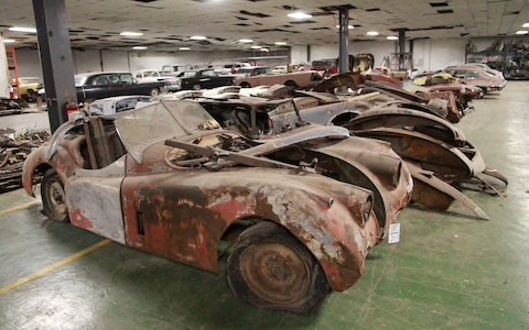 Classic cars in need of restoration