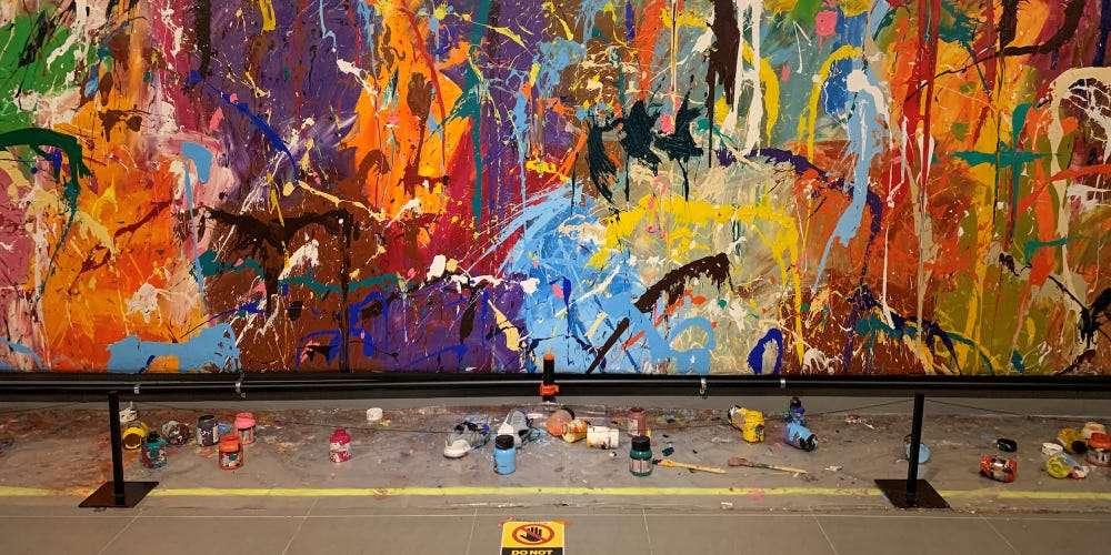 JonOne's vandalised artwork