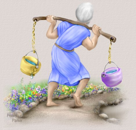Water carrier with two pots