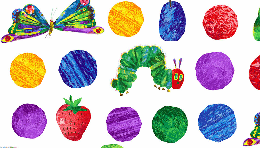 Hungry caterpillar and butterfly